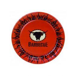 Papierový tanier Barbecue (PAP/PE) 23cm (10ks)