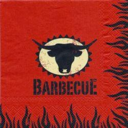 Obrúsky 3- vrstvové Barbecue (PAP- 100% celulóza) 33x33cm (20ks)