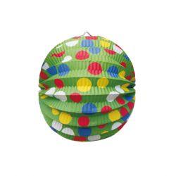 Lampión okrúhly PARTY zelený (PAP) 24cm (1ks)