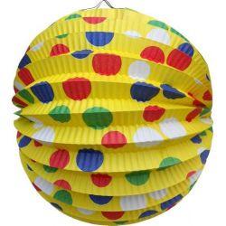 Lampión okrúhly PARTY žltý (PAP) 24cm (1ks)