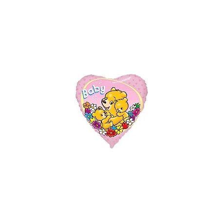 Balón Macko baby - ružový, modrý