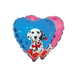 Balón Dalmatín s ružou