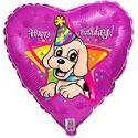 Balón Pes - Happy birthday hviezda
