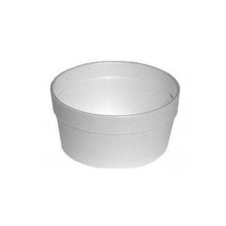 Termo miska okrúhla biela 340ml (EPS) 11,5x5,7cm (25ks)