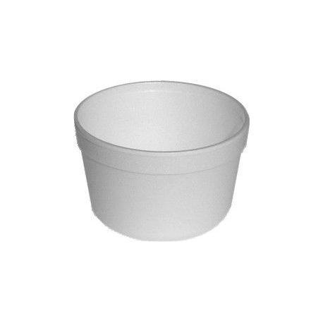 Termo miska okrúhla biela 460ml (EPS) 11,5x7,4cm (25ks)