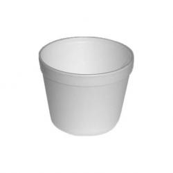 Termo miska okrúhla biela 550ml (EPS) 11,5x9,3cm (25ks)