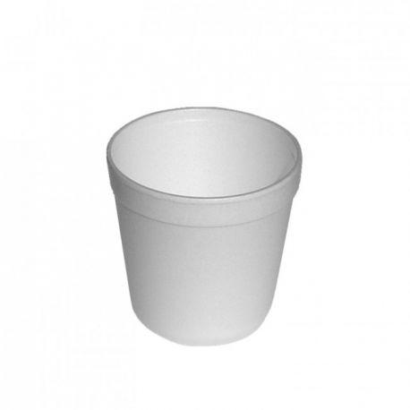 Termo miska okrúhla biela 680ml (EPS) 11,5x11,6cm (25ks)