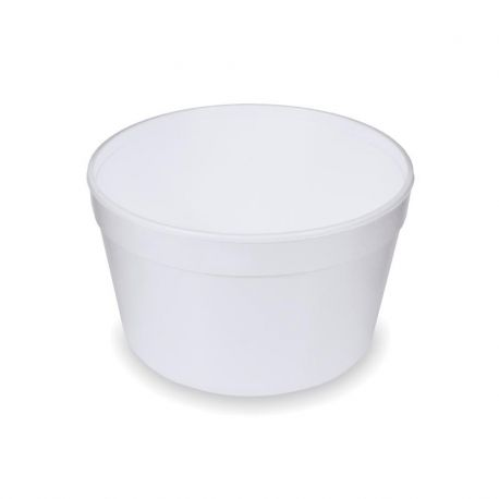 Termo miska okrúhla biela 910ml (EPS) 14,2x8,5cm (25ks)