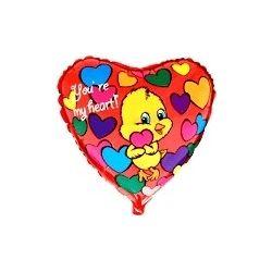 Balón Kačiatko - červené so srdiečkami
