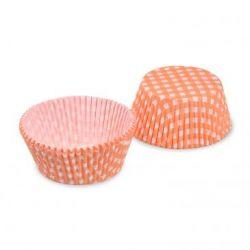 Cukrárenský košíček KARO oranžový (PAP) 50x30mm (40ks)