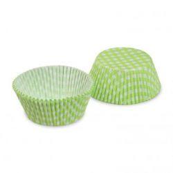 Cukrárenský košíček KARO zelený (PAP) 50x30mm (40ks)