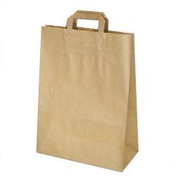Papierová taška hnedá (PAP) 32+15x43cm (50ks)