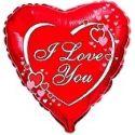 Balón I love you - červené