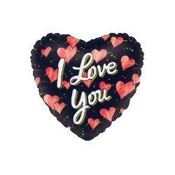 Balón I love you - čierne