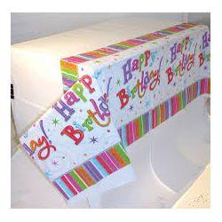 Obrus Happy birthday 137x259 cm,plastový