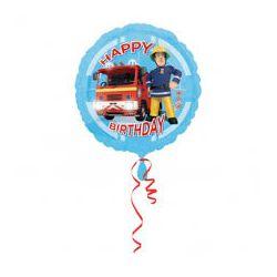 Fóliový balón Happy birthday Požiarnik Sam