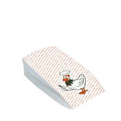 Vrecko na 1/2 grilované kura (2- vrstvové) (PAP/PE)10,5+5,5x24cm (100ks)