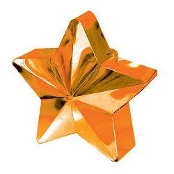 Ťažítko na balóny hviezda oranžová