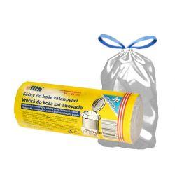Vrecko do koša zaťahovacie biele 30l(HDPE) 50x60cm (20ks)