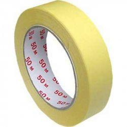 Lepiaca páska krepová žltá (PAP/HOT-MELT) 50m x 25mm