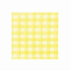 Obrúsky KARO žlté (PAP-100% celulóza) 33x33cm (100ks)