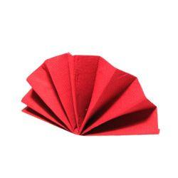 Obrúsky Dekostar červené 40x40cm (PAP - 100% celulóza) 40ks