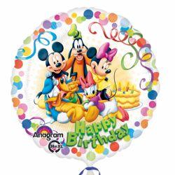 Balón happy birthday Mickey Mouse