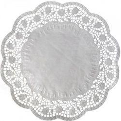 Dekoračná krajka okrúhla biela (PAP) 10cm (500ks)