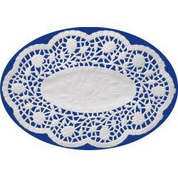 Dekoračná krajka oválna biela (PAP) 18x13cm (500ks)