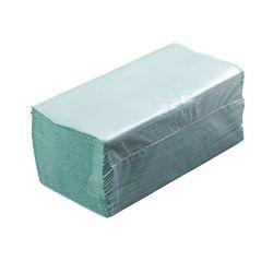 """Papierové uteráky skladané ZZ """"V"""" zelené (PAP - Recykl) 25x23cm (5000ks)"""