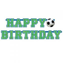 Banner happy birthday Futbal