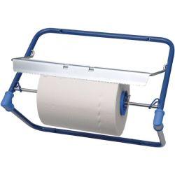 Odvinovač kovový nástenný pre utierky v roli modrý (FE)