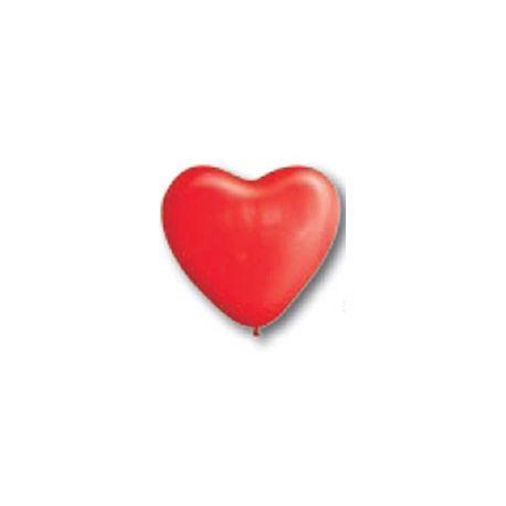 Balón Srdce červené 12,5 cm