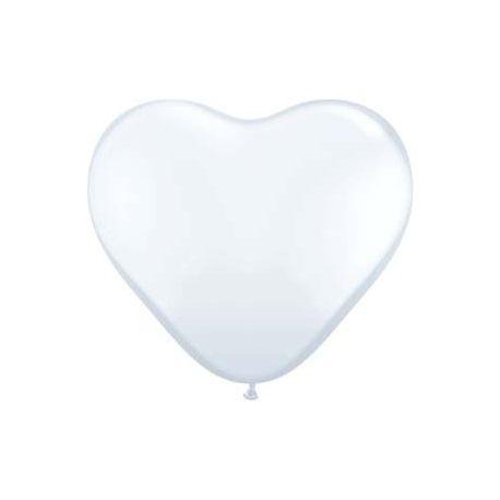 Balón Srdce biele 30 cm