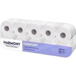 """Toaletný papier """"HARMONY PROFESSIONAL"""" 2-vrstv. 200 útržkov biely (PAP - Recykl) 24m (10ks)"""