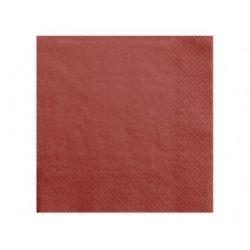 Obrúsky troj-vrstvové, 40 x 40 cm, červené