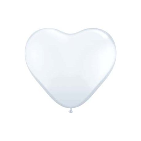 Balón Srdce biely 40 cm