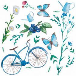 Obrúsky 3- vrstvové 33x33cm (20ks) s motívom bicykel