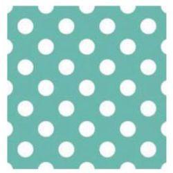 Obrúsky 3- vrstvové, bodkové, tyrkysové 33x33cm (20ks),