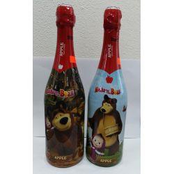 Detské šampanské Masha a Medveď- jablkové 0,75l