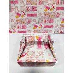Krabica na zákusky - krst 20x20x9cm , 1ks