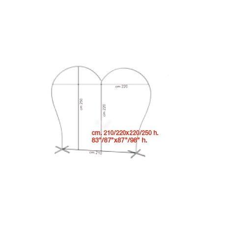 Konštrukcia v tvare - Srdcová brána