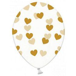 Konfety do balónov - zlaté srdiečka