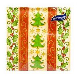 Vianočné servítky stromčeky, 3-vrstvé, 33 x 33 cm [20 ks]