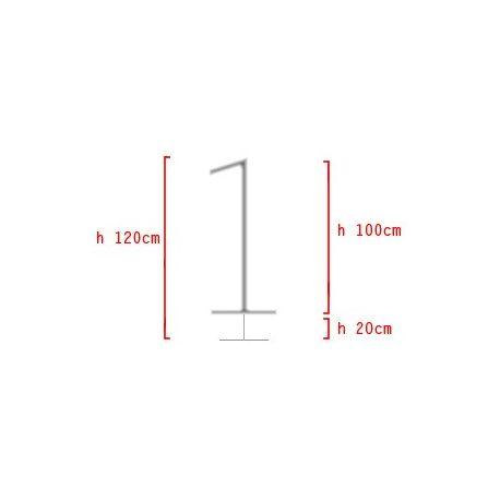Konštrukcia na výzdobu v tvare - Číslica