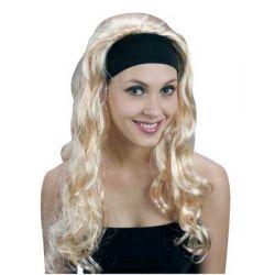 Parochňa dlhé blond vlasy na čelenke