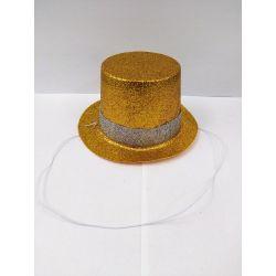 Párty klobúk na gumičke - červený