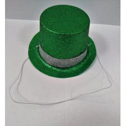 Párty klobúk na gumičke - zelený