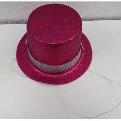 Párty klobúk na gumičke - cyklámenový