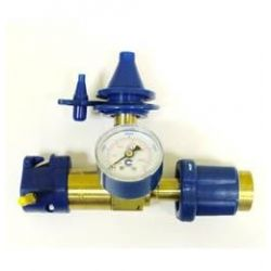 Klobúčikový ventil s manometrom